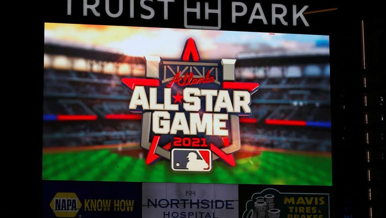 The 2021 All Star Game Logo is displayed on the screen prior to the game.
