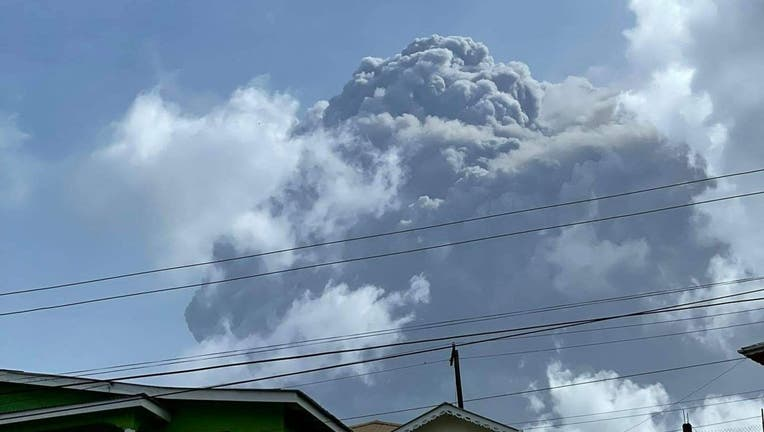 The eruption of La Soufriere Volcanoo