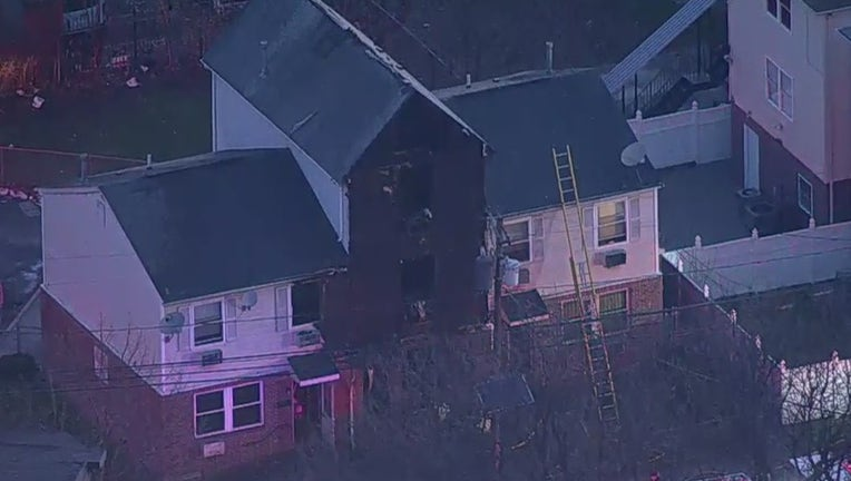 SkyFox was over the scene of a fire at 63-65 Astor Streetin Newark, NJ. that left one boy dead.