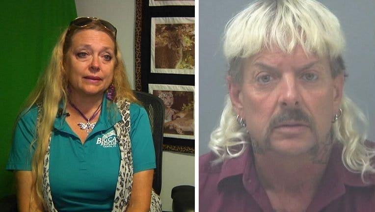 Big Cat Rescue CEO Carole Baskin, left, and Joseph Maldonado-Passage, right