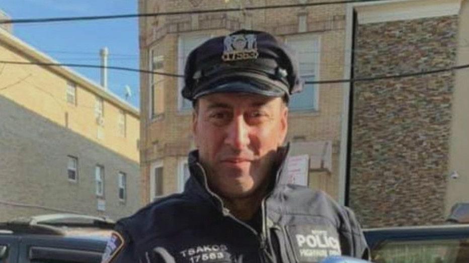 A photo shows NYPD Officer Anastasios Tsakos.