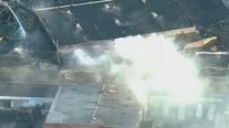 Massive fire at garbage facility disrupts LIRR service