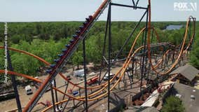 VIDEO: Jersey Devil roller coaster's first test run at Six Flags in NJ