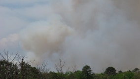 Wildfire in southern NJ burns through hundreds of acres of forest