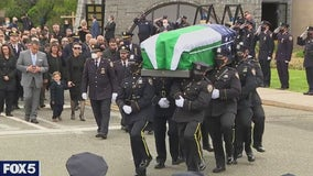 Hundreds attend funeral for fallen NYPD cop Anastasios Tsakos