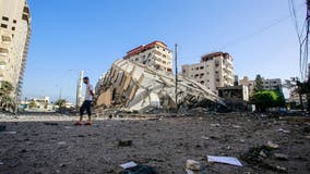 Israel Gaza violence: Airstrikes topple high-rise housing Hamas facilities