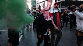 Pro-Israel and pro-Palestine supporters clash in Times Square