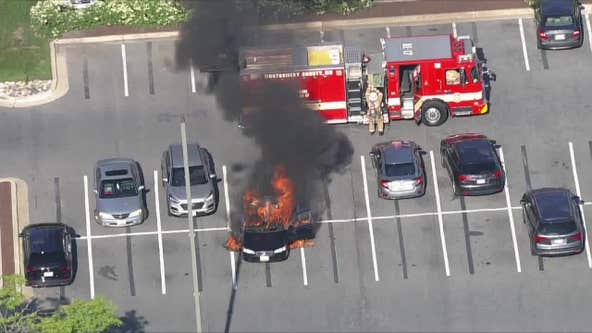 Hand sanitizer, cigarette sparked Rockville Pike car blaze, officials say