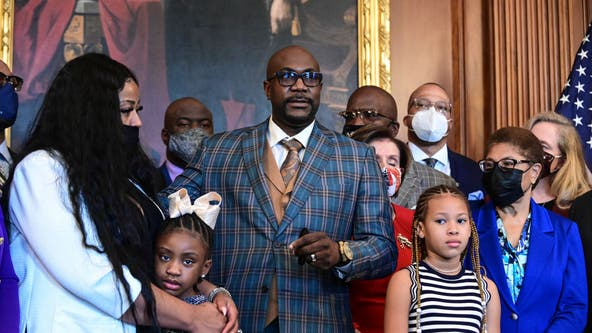 George Floyd's family meets with Biden, lawmakers on anniversary of his death