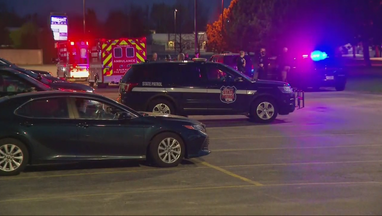 Law enforcement at scene of a shoorintg at Oneida Casino in Ashwaubenon, Wisconsin.