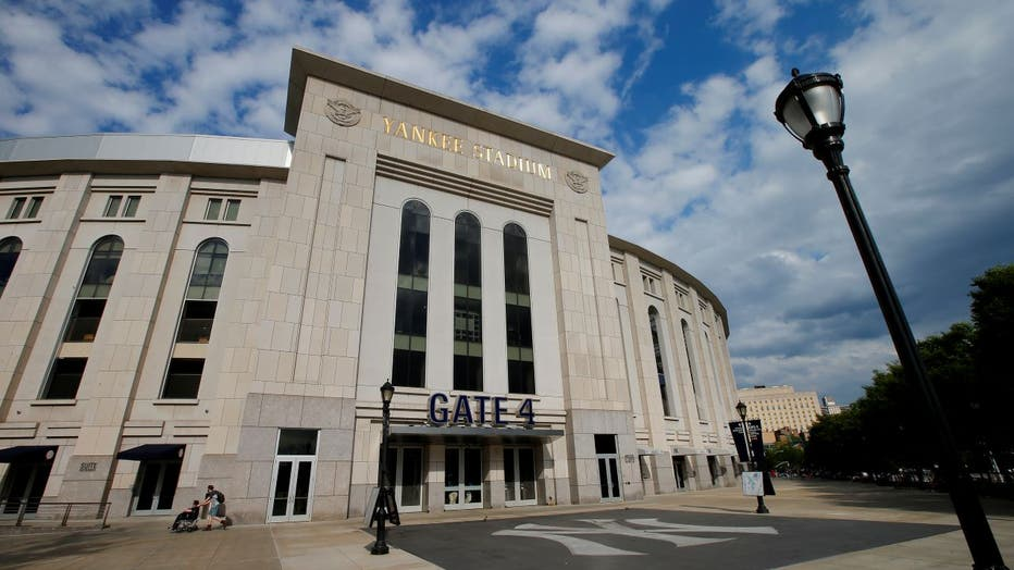 Exterior of Yankee Stadium after a game.