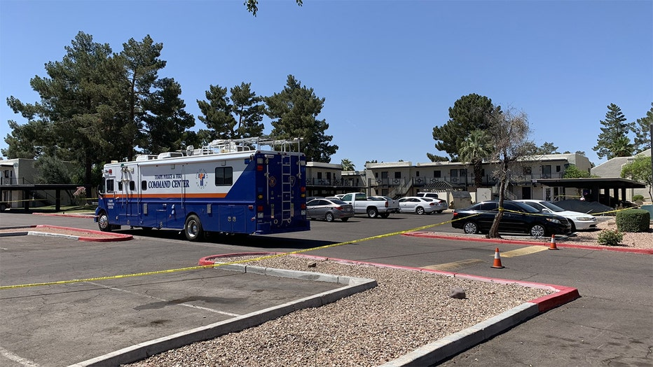 A photo released by Tempe Police shows the crime scene.