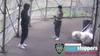 VIDEO: Innocent bystander struck by stray bullet near NYPD HQ in Manhattan