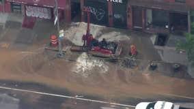 Water main breaks, sidewalk collapses in Brooklyn