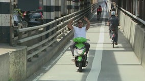 NYPD to crack down on motorcycles, mopeds in pedestrian paths on 59th St. Bridge