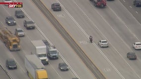 Motorcyclist leads deputies on chase through San Gabriel Valley; suspect stops for gas mid-pursuit