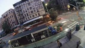 Flying metal debris nearly strikes FOX 5 News crew in Manhattan