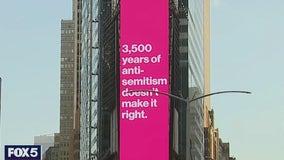 Times Square billboard ads shine light on growing anti-Semitism