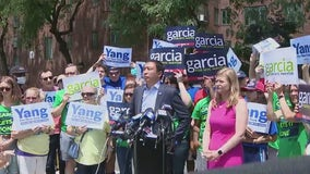 Yang, Garcia hit the campaign trail together days before primary election