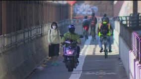 Pedestrians, cyclists say mopeds are invading NYC bike lanes