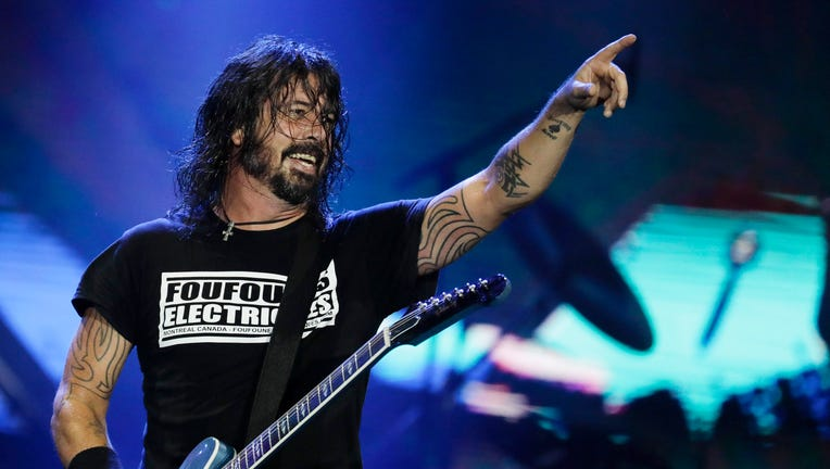 FILE - In this Sept. 29, 2019, file photo, Dave Grohl of the band Foo Fighters performs at the Rock in Rio music festival in Rio de Janeiro, Brazil.