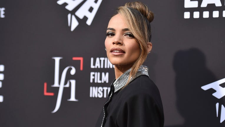 """Leslie Grace arrives at a screening of """"In the Heights"""" during the Los Angeles Latino International Film Festival at TCL Chinese Theatre on Friday, June 4, 2021, in Los Angeles."""