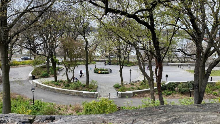 Riverside Park is mostly empty during the coronavirus pandemic