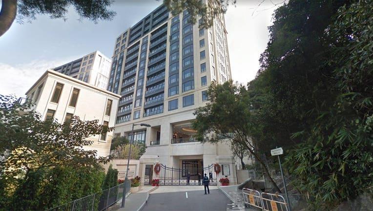 The Mount Nicholson development overlooks downtown Hong Kong. (Google Earth)