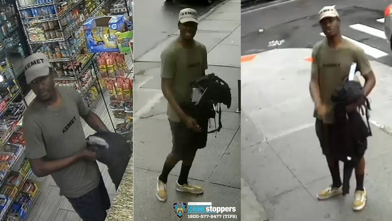 The NYPD released images of a man wanted for attacking subway riders with a rock.