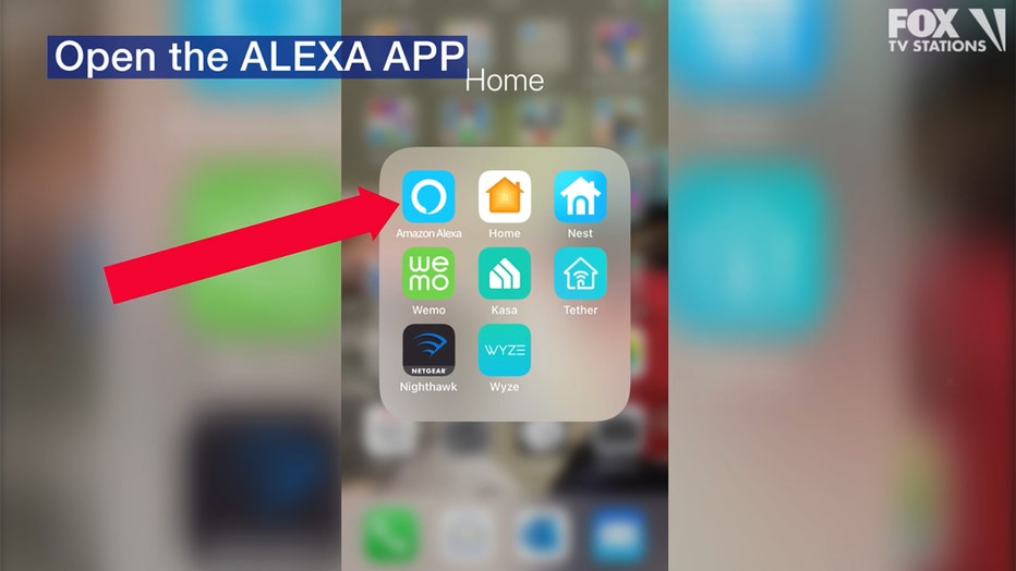 Open the Alexa app on your mobile device