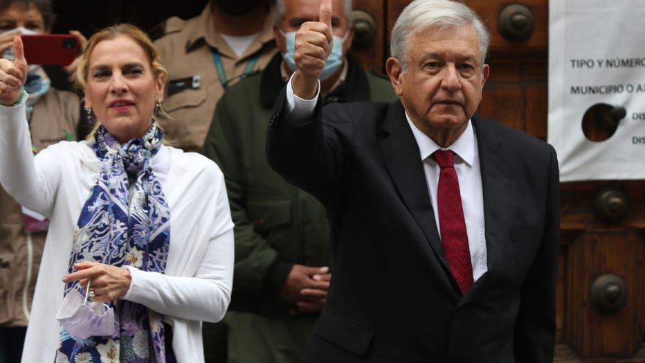 Mexicos President, Lopez Obrador During Mexican Legislative Elections Day