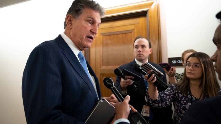 Senator Joe Manchin (D-WV) Speaks With Reporters On Capitol Hill