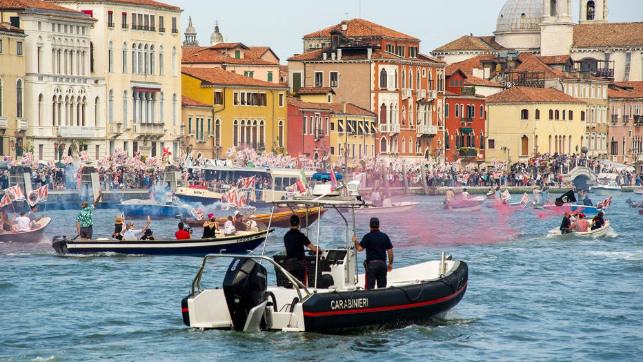 Venice Port Workers React To Passage Of First Cruise Ship