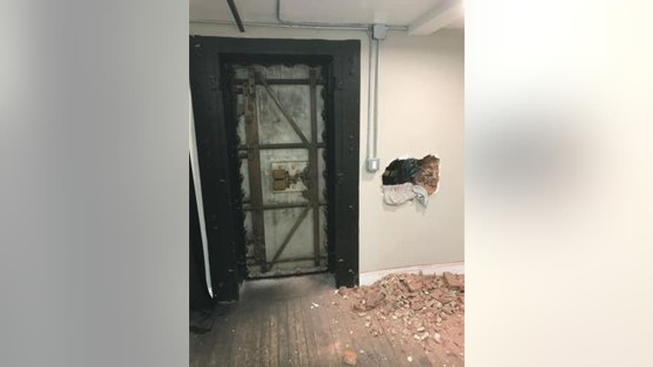 First responders in Port Jefferson, Long Island rescued a girl stuck inside a dressing room by pulling her through the wall.