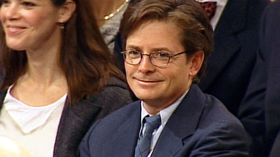 Michael J. Fox testifies before Congress September 28, 1999 in Washington, DC. Fox appeared before a subcommittee for the U.S. Senate to push for funding for Parkinson's disease research. (Photo by CNN via Getty Images)