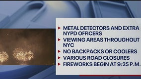Going to watch the July 4 fireworks? Here's what you need to know
