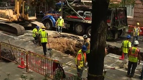 Section of street collapses in Manhattan
