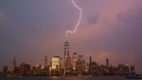 Hot weather, powerful thunderstorms in New York area