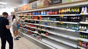 Spat over tracing app as shelves empty in England