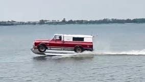 'Truck boat' glides over Oklahoma lake