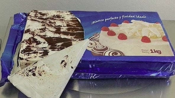 Cops seize cocaine disguised as marble cake