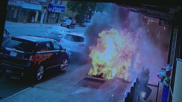 BALL OF FIRE: Man walking over subway grate survives transformer explosion