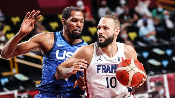 France stuns US men's basketball in Tokyo Olympic opener