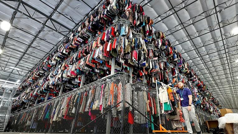 A massive pile of clothes