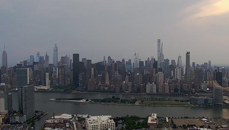 Manhattan skyline seen from Queens