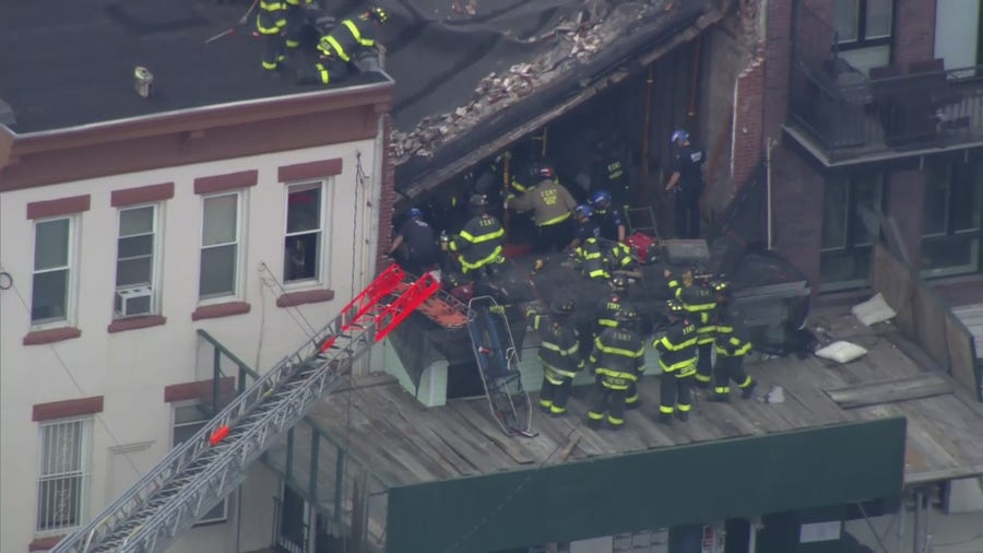 Two workers trapped after partial building collapse in Brooklyn