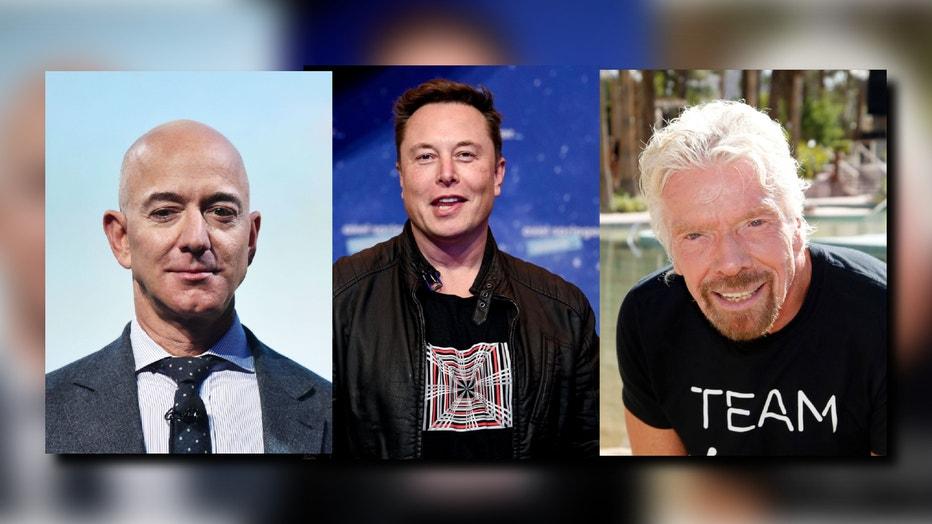 Billionaires in space race