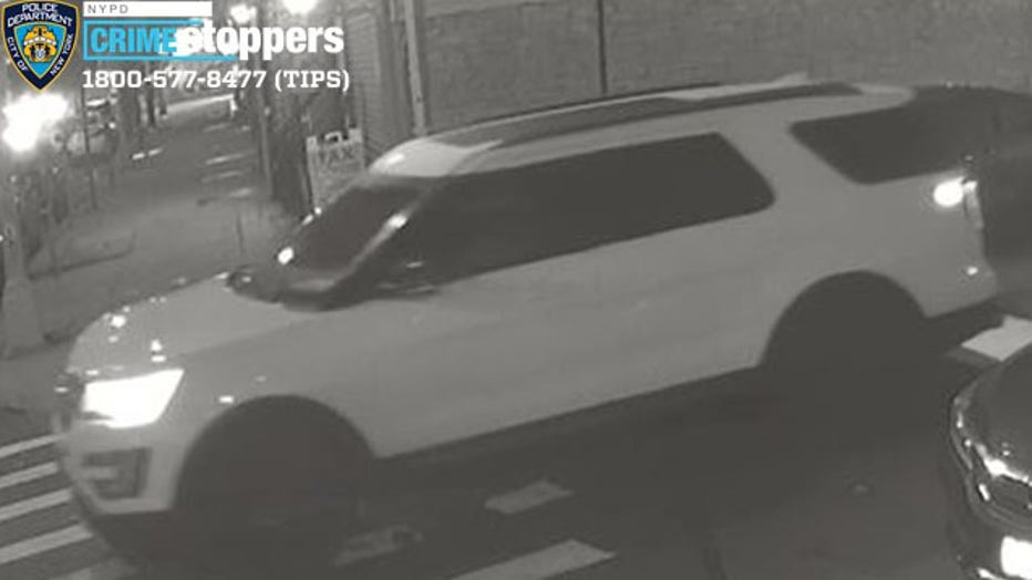 The suspect opened fire on three men in Jamaica, Queens before taking off in a white SUV.