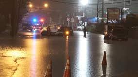 Newark water rescues in Henri flooding
