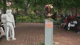 Tired of waiting for City Hall, activists install monument of trans icon in Greenwich Village park